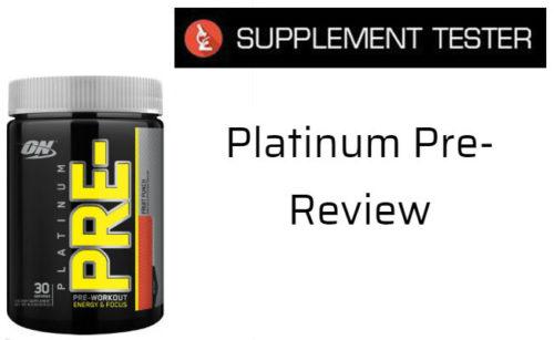 Optimum Nutrition Platinum Pre- Review