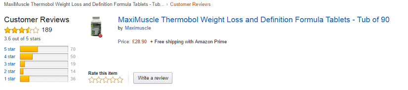 thermobol ratings