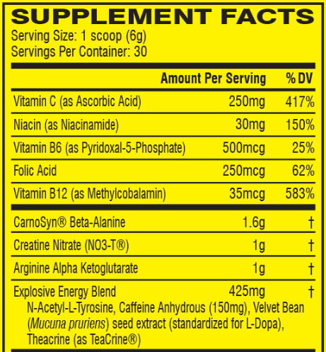 C4 Original Ingredient list review