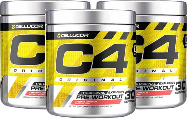 C4 Original pre workout supplement.