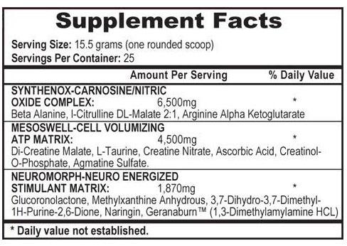 mesomorph ingredient list review