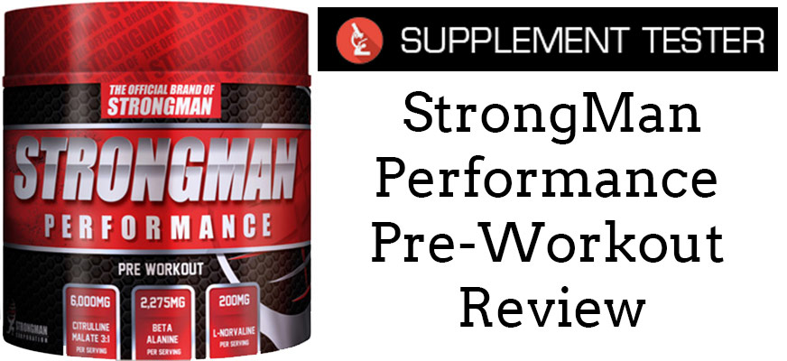 Strongman Performance Pre-Workout Review